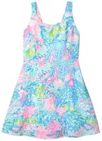 Lilly Pulitzer Daffodil Dress (Big Kids) (Multi Fished My Wish) Girl's Clothing