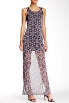 BCBGeneration Sheer Printed Maxi Dress