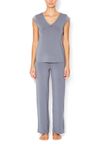 Blush Lingerie Modal & Lace Pajama Set