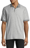 Robert Graham Embroidered Piqué Polo Shirt
