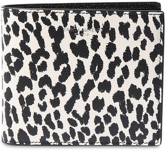 Saint Laurent Animalier Print Billfold Leather Wallet