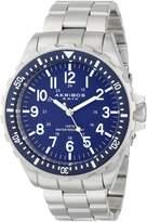 Akribos XXIV Men's AK689BU Grandiose Analog Display Swiss Quartz Silver Watch