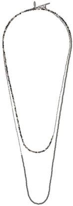 Brunello Cucinelli 14kt White Gold Bead Necklace