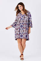 ELM NEW Womens Knee Length Dresses Festival Dress BohoPrint
