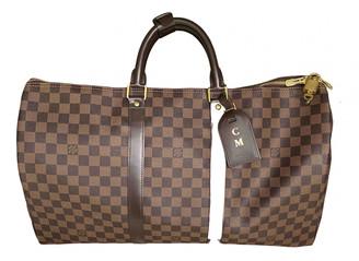 Louis Vuitton Keepall Brown Cloth Bags