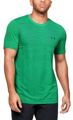 Under Armour Seamless Knit Wave T-Shirt - Vapor Green / Black