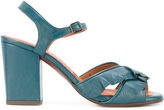 Chie Mihara crossover strap sandals - women - Leather/rubber - 36