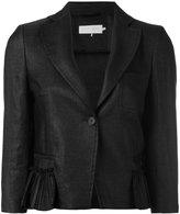 L'Autre Chose one button jacket - women - Linen/Flax/Polyamide/Viscose - 42