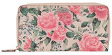 Lodis Bouquet Floral Printed Zipped Leather Wallet