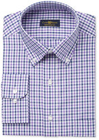 Club Room Estate Men's Classic-Fit Wrinkle-Resistant Purple Gingham Dress Shirt, Only at Macy's