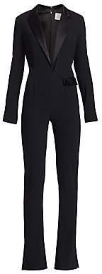 Galvan Women's Berlin Deep V-Neck Tuxedo Jumpsuit