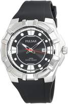 Pulsar Men's Leather Strap Collection watch #PXH633