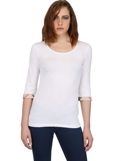 Burberry Stretch Cotton Jersey Top
