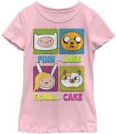 Fifth Sun Pink 'Finn & Jake Fionna & Cake' Tee - Girls