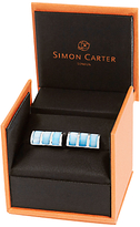 Simon Carter Mother Of Pearl Curve Cufflinks, Blue