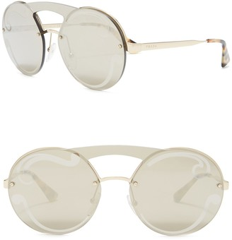 Prada 36mm Round Sunglasses