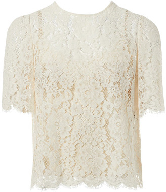 Dolce & Gabbana White Lace Tops
