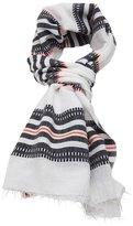Lemlem striped raw edge scarf