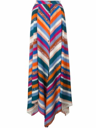 Altuzarra Aquarius Midi Striped Skirt