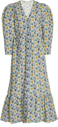 Sea Leslie Printed Cotton Midi Dress