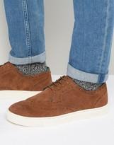 Ted Baker Rachet Suede Brogue Sneakers