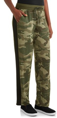 Athletic Works Women's Athleisure French Terry Camo Sweatpants