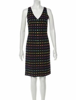 Diane von Furstenberg Printed Knee-Length Dress w/ Tags Black