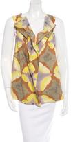 Marni Sleeveless Tie-Dye Print Blouse