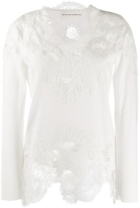 Ermanno Scervino Floral Lace Detailed Top