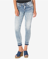Silver Jeans Avery Ankle Light Blue Wash Released-Hem Skinny Jeans