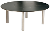 Barlow Tyrie Equinox Round 6 Seater Garden Dining Table with Lazy Susan, Slate Grey