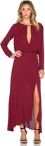 Krisa Deep V Slit Maxi Dress