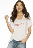 Peace Love World I Love You It's Personal Oversized Mia V Tee