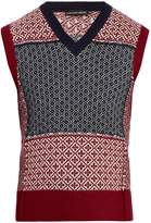 Alexander McQueen Sleeveless wool and cashmere-blend sweater