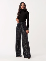 Diane von Furstenberg Rhiannon Sequined-Jersey Wide-Leg Pant