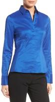 BOSS Women's Bashina Fitted Stretch Poplin Shirt