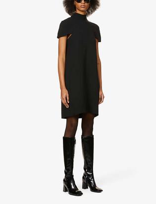 Victoria Victoria Beckham Cape-back crepe mini dress