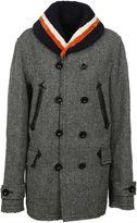 Sacai Grey Fur Collar Coat