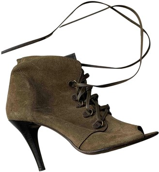 IRO Khaki Suede Ankle boots
