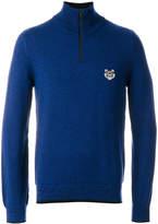 Kenzo Tiger crest zipped sweater