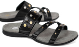 Black Playa Leather Slide