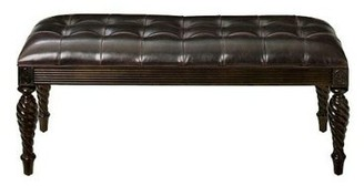 Bernhardt Belmont Faux Leather Bench