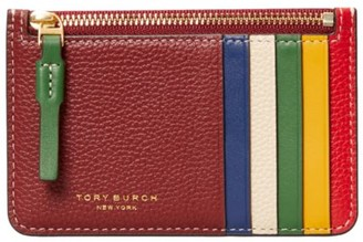 Tory Burch Perry Colorblock Leather Card Case