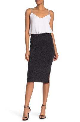 Sanctuary Metallic Striped Pencil Skirt