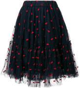 P.A.R.O.S.H. lips embellished skirt