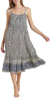 Veronica Beard Ayesha Floral Coverup Dress with Flounce Hem