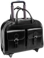 """McKlein McKleinUSA Davis 15.4"""" Leather Wheeled Laptop Briefcase"""