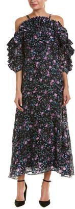 Rebecca Taylor Ruby Silk-Blend Maxi Dress