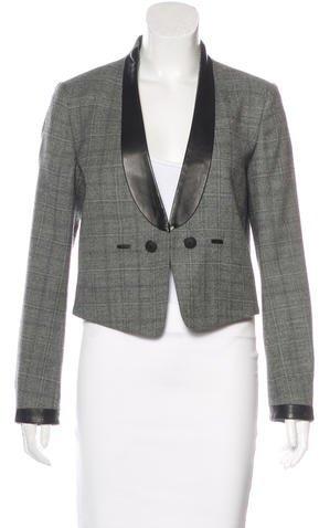 Rag & Bone Wool Leather-Trimmed Jacket