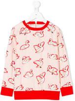 Stella McCartney swan print blouse